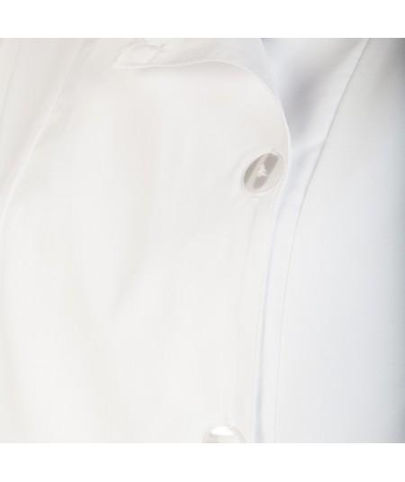Blouse d'horloger Latitude La Cie Des Horlogers, de couleur blanche. Fermeture à boutons plats.