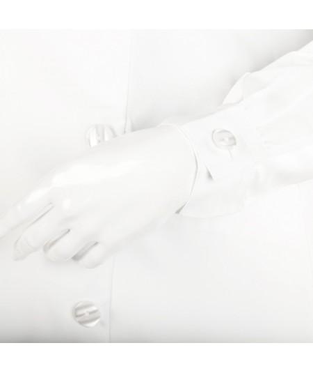 Blouse d'horloger Latitude La Cie Des Horlogers, de couleur blanche. Poignet réglable à bouton plat.