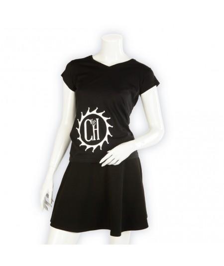 T-shirt La Cie des Horlogers, Collection PLATINE, noir. Vue de face