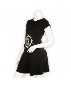 T-shirt La Cie des Horlogers, Collection PLATINE, noir. Vue de 3/4.