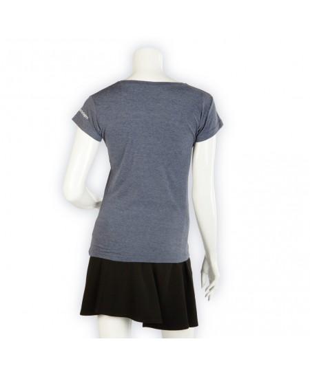 T-shirt La Cie des Horlogers, Collection PLATINE, bleu gris. Vue de dos.
