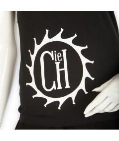"""T-shirt La Cie des Horlogers, Collection PLATINE, noir. Sigle """"La Cie des Horlogers"""" sur l'avant."""