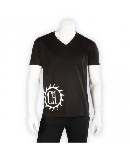 T-shirt Coton La Cie Des Horlogers uni noir en coton pour homme