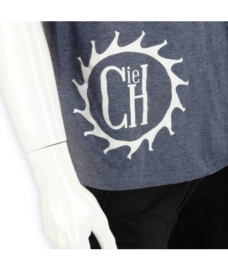 T-shirt Coton La Cie Des Horlogers uni bleu gris en coton pour homme