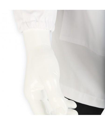 Blouse d'horloger Paraphe, blanc. Poignet à élastique.