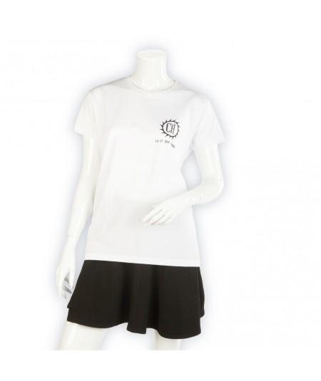 T-shirt Coton Standard blanc La Cie des Horlogers en coton uni pour femme